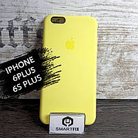 Силиконовый чехол для iPhone 6 Plus / 6S Plus Soft Лимонный, фото 1