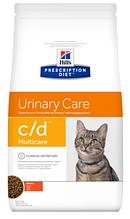 Лечебный корм для кошек HILL'S (Хиллс) PD Feline c/d лечение мочевыводящих путей (курица), 1,5 кг