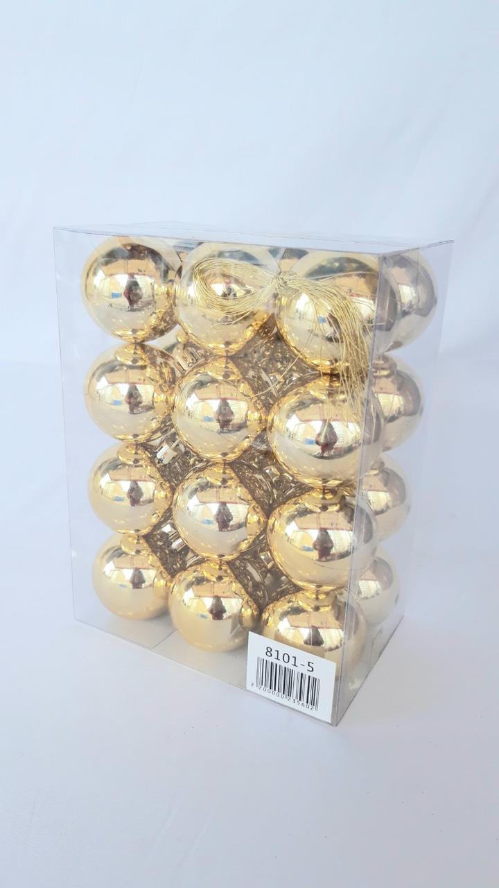 Елочные шары диаметр 5 см , 24 штуки в упаковке