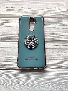 Чохол Ring Stones для Xiaomi Redmi Note 8 Pro силіконовий бампер Сіро-блакитний