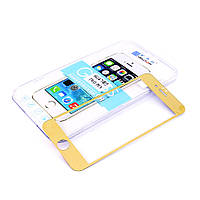 Бронированная защитная пленка (стекло), Комплект, переднее и заднее, для iPhone 6/6S, 0,33 mm, NewTop, Золотистая /GOLD/накладка/наклейка /айфон/Защит