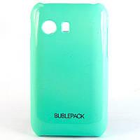 Чехол-накладка для Samsung S5360, Galaxy Y, пластиковый, Buble Pack, Бирюзовый /case/кейс /самсунг