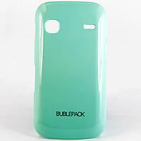 Чехол-накладка для Samsung S5660 Galaxy GIO, пластиковый, Buble Pack, Бирюзовый /case/кейс /самсунг