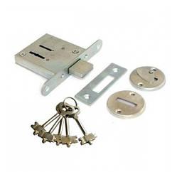 Замок врезной Омега ЗВ8-4 (5 ключей)