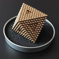 Магнитный конструктор неокуб Магнитные шарики нео куб Золотой Neocube 5мм Головоломки для детей и взрослых