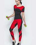 Комплект женский для фитнеса (красный), фото 2
