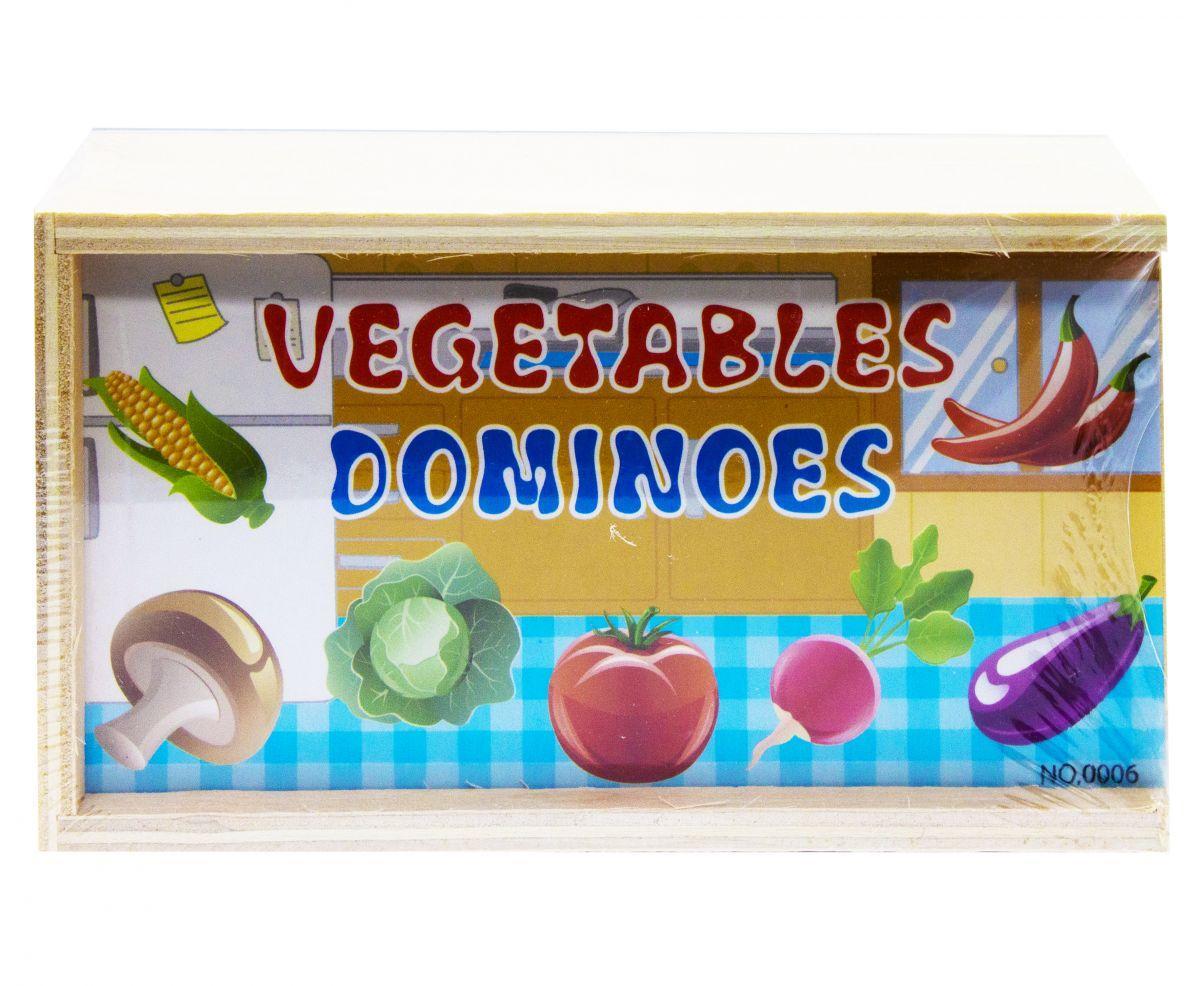 """Деревянное домино """"Овощи"""" XY-6223"""