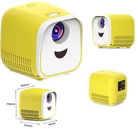 Портативный мини проектор для детей ViviBright L1 1000 люмен бело-желтый