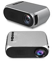 Мультимедийный LED-проектор для домашнего кинотеатра Projektor YG320 Черно-серый