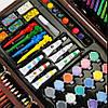 Набор для рисования и творчества в деревянном чемодане Tool Kit 123 предмета, фото 2
