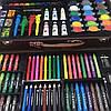 Набор для рисования и творчества в деревянном чемодане Tool Kit 123 предмета, фото 4
