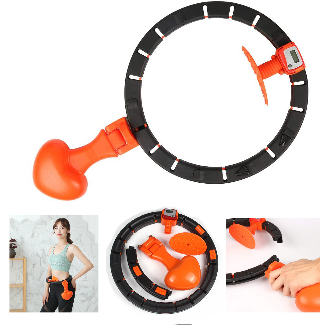 Умный массажный обруч String Body для похудения живота и боков HULA Hoop LED (W76)