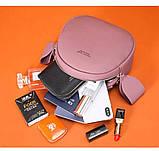 Удобная женская сумка полукруглая, фото 4