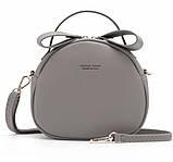 Удобная женская сумка полукруглая, фото 9