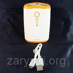 Резервный аккумулятор ARUN Y203, 2хUSB (1A/2, 1A), 8400mAh, Оранжевый /АКБ/Батарея/Батарейка