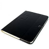 Чехол-книжка для Samsung Galaxy Tab 3 10.1, P5200, квадраты, кожаный с пластиковой вкладкой, Черный /flip case/флип кейс /самсунг галакси