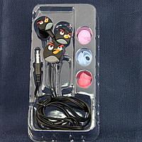 Детские наушники Disney, Angry birds, Разьем 3.5 mm (Универсальный) /наушники для детей/для девочек/для