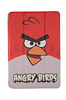 Чехол-книжка для Apple iPad Mini  iPad Mini 2 iPad Mini 3, Angry Birds, Силикон с Кожей, красный /flip case/флип кейс /айпад/Детский чехол