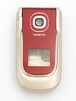 Корпус для Nokia 2760, High Copy, Серый с красным /панель/крышка/накладка /нокиа, фото 1