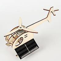 Вертоліт з двигуном на сонячній батареї - дерев'яний конструктор дитячий - саморобка