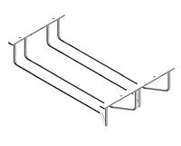 S -4016, держатель бокалов, 2-о рядный, 235х355х70мм, хром