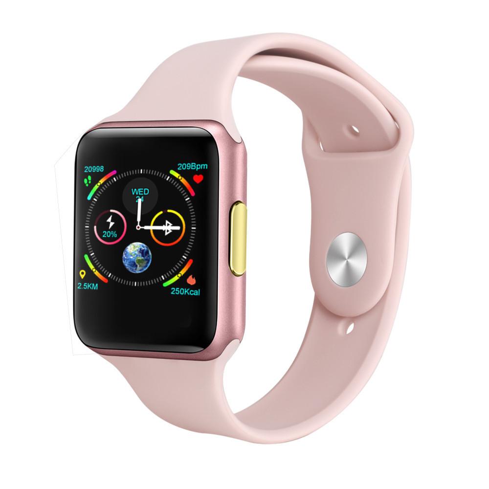 Наручные смарт-часы Finow E06 часы с силиконовым ремешком (Pink) | умные часы