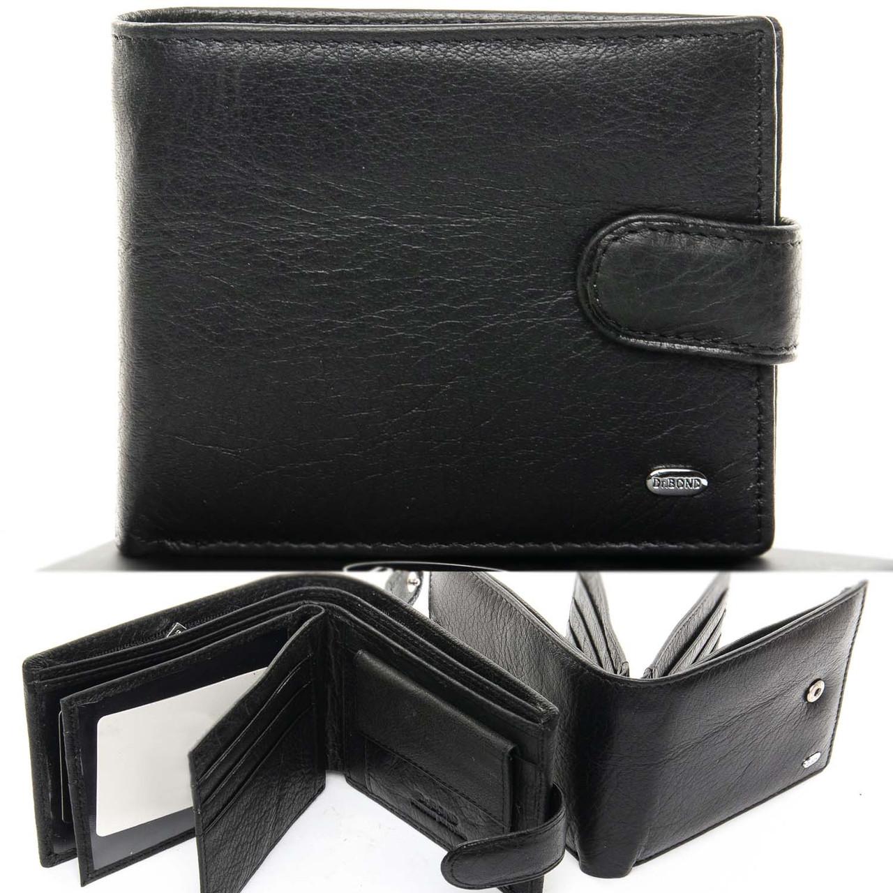 Кожаный мужской кошелек портмоне DR.BOND M18055-1 black