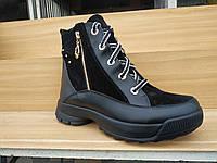 Женские кожаные зимние ботинки 36-40, фото 1