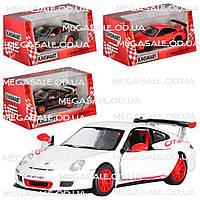Машинка железная инерционная Porsche 911 GST RS 1:36: 4 цвета