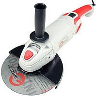 Шлифмашина угловая 2000 Вт, 6500 об/мин, диаметр круга 230 мм, поворотная рукоятка INTERTOOL DT-0290
