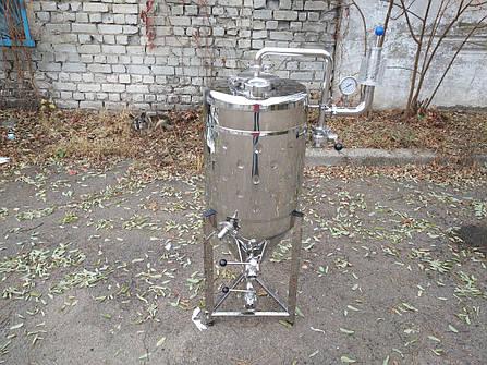 Цкт 65 литров для брожения под давлением, с рубашкой охлаждения., фото 2