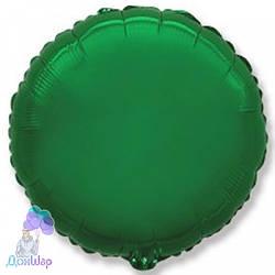 Фольгированный Шар Круг Flexmetal 9''/23 см Металлик Зелёный