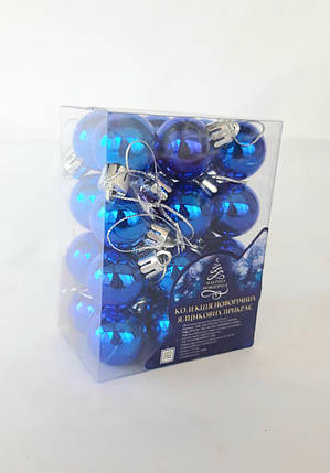 Елочные шары диаметр 3 см , 24 штуки в упаковке, фото 2