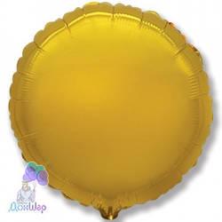Фольгированный Шар Круг Flexmetal 9''/23 см Металлик Золото