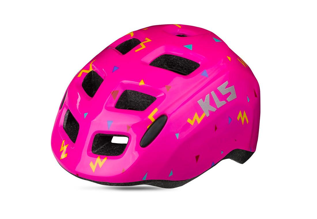 Велошлем детский KLS ZIGZAG розовый XS (45-50 см)