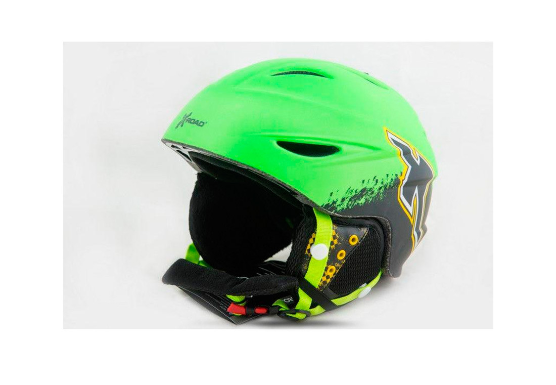Шлем горнолыжный X-Road № 926-34 Green M-L (55-58 cм)
