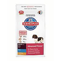 Сухой корм для собак мелких пород Курица Hills SP Canine Adult AdvFitness Mini Chiken 2,5 кг