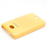 Чехол-накладка для Nokia Asha 501, пластиковый, Buble Pack, Желтый /case/кейс /нокиа