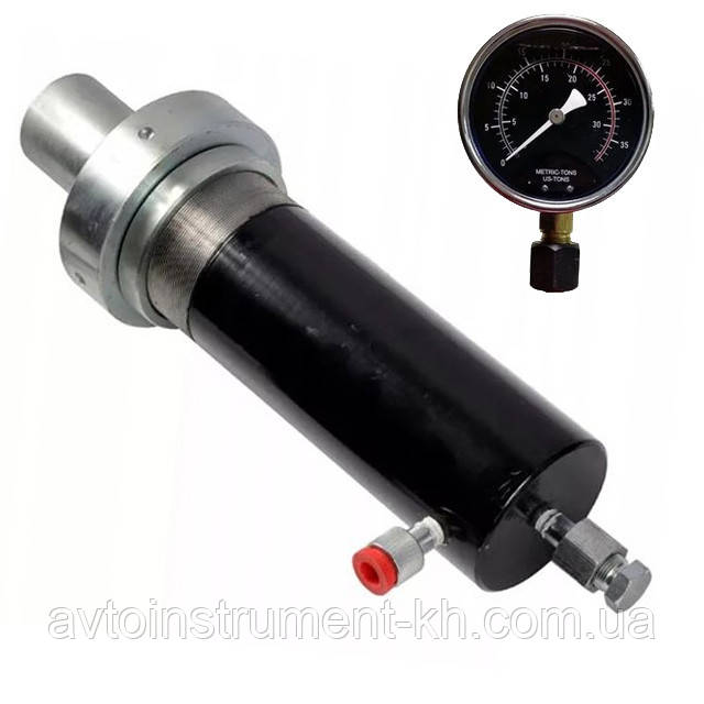 Цилиндр гидравлический(гидроцилиндр) для пресса с манометром 30 тонн Profline 97325