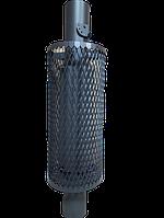 Піч чавунна Атмосфера. Труба-сітка конвектор з шибером ф115 L 1 м