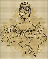 Набор для вышивки крестом Luca-S B2211 Балерина