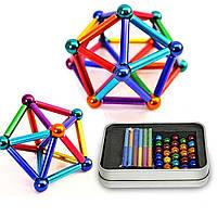 Магнитный конструктор Неокуб с палочками NeoCube Разноцветный Магнитные шарики Развивающие игры для детей