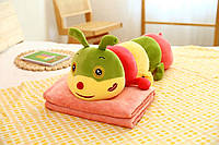 Детская мягкая игрушка с пледом Гусеница