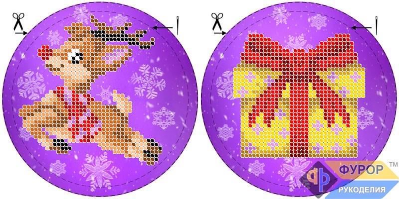 Схема для вишивки бісером Новорічна ялинкова іграшка (ИНБ-019)