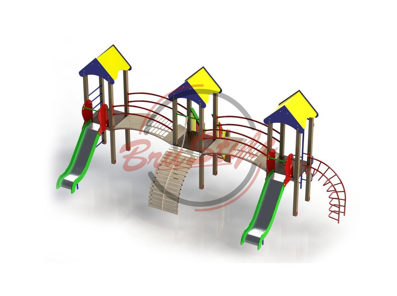 """Детский игровой комплекс """"Три башни"""" BruStyle DIO803"""