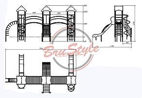 """Детский игровой комплекс """"Три башни"""" BruStyle DIO803, фото 2"""
