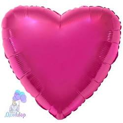 Фольгированный Шар Сердце Flexmetal 9''/23 см Металлик Малиновый