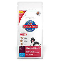 Сухой корм для собак средних пород Тунец Hills SP Canine Adult AdvFitness Tuna 12 кг
