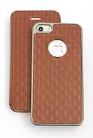 Чехол-накладка + книжка для Apple iPhone 5/5S, Сomma, Коричневый /case/кейс /айфон