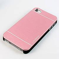 Чехол-накладка для Apple iPhone 4S iPhone 4, Motomo, алюминий с пластиком Soft Touch, Розовый /case/кейс